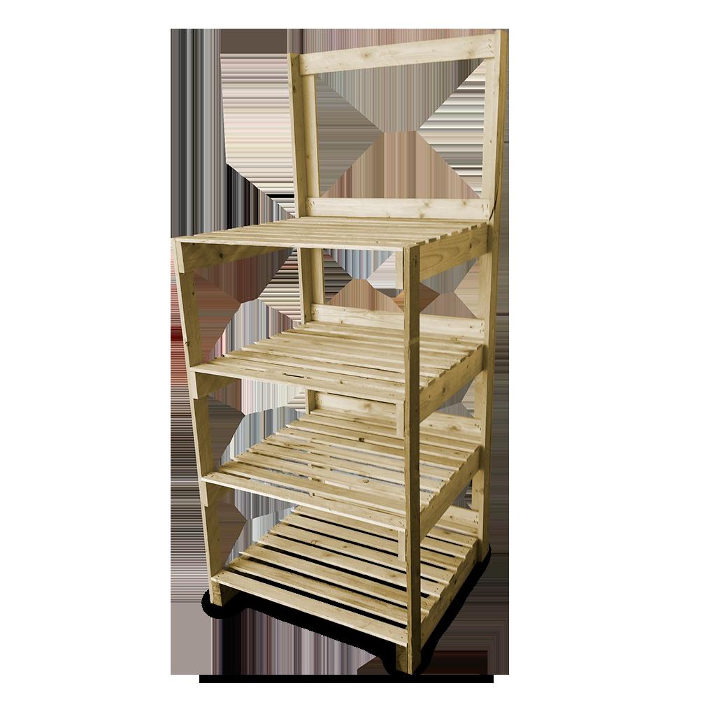 Espositori e scaffali in legno arredamento di design su for Scaffali legno arredamento